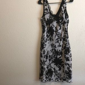 Alyn Paige black & white floral chic dress